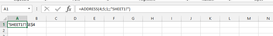 Address Formula with Text