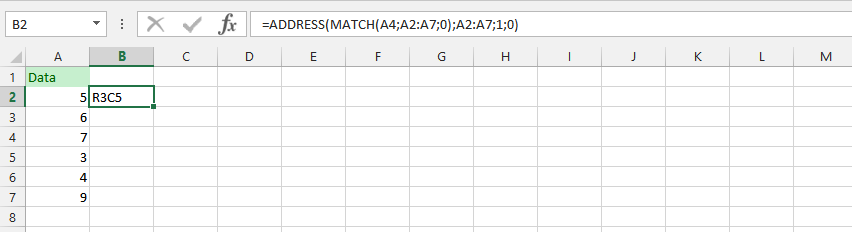 Address and Match Formula Simultaneously