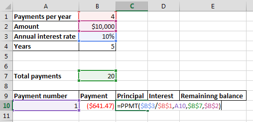 how to calculate ppmt manually