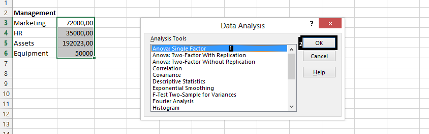 choose analysis tool