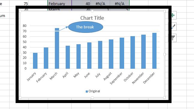 Best excel tutorial how to break charts column ready break ccuart Gallery