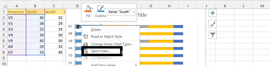 right click select data