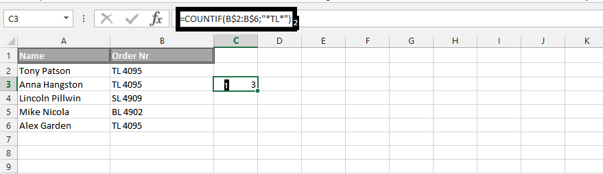 how to use countif in excel with two conditions