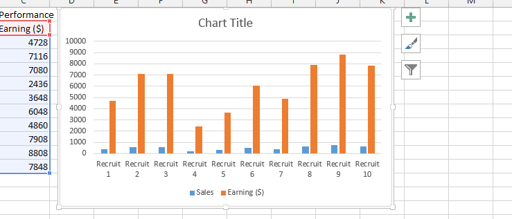 Best excel tutorial how to insert chart title from a cell click on the chart title ccuart Image collections
