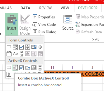 Best Excel Tutorial - Combo box