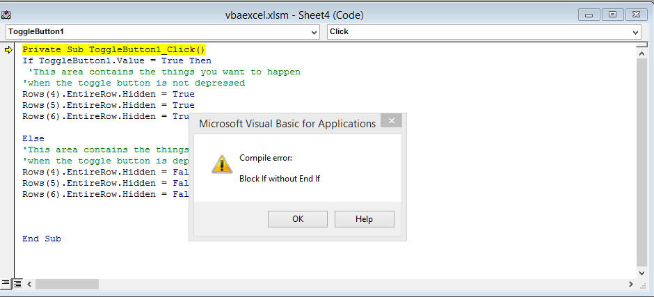 Best Excel Tutorial - What are the most common bugs in VBA code?