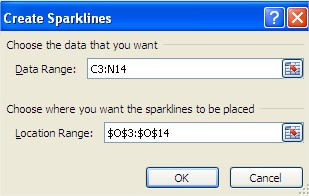 Create Sparklines Window