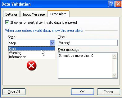 Data Validation Style