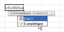 Define Names Formulas