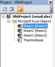 Email project vba