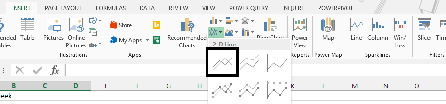 Best excel tutorial chart that ignores na errors and empty values 2d line chart ccuart Images