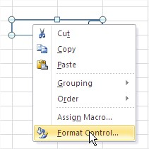 Excel Combo Box Format Control
