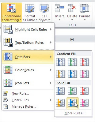 Excel Conditional Formatting Rule Solid Fill