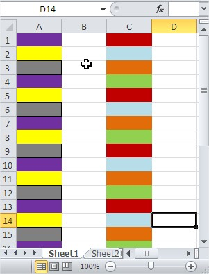 Excel Conditional Formatting Third Fourth