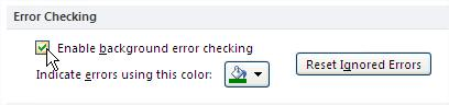 Excel Error Checking
