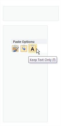 Excel copy to Word Keep Text Only