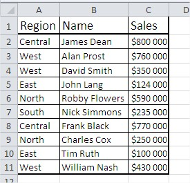 Excel database functions example