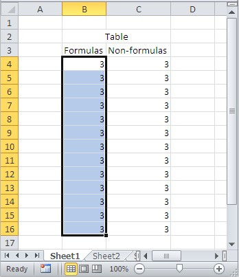 Excel find and select formulas
