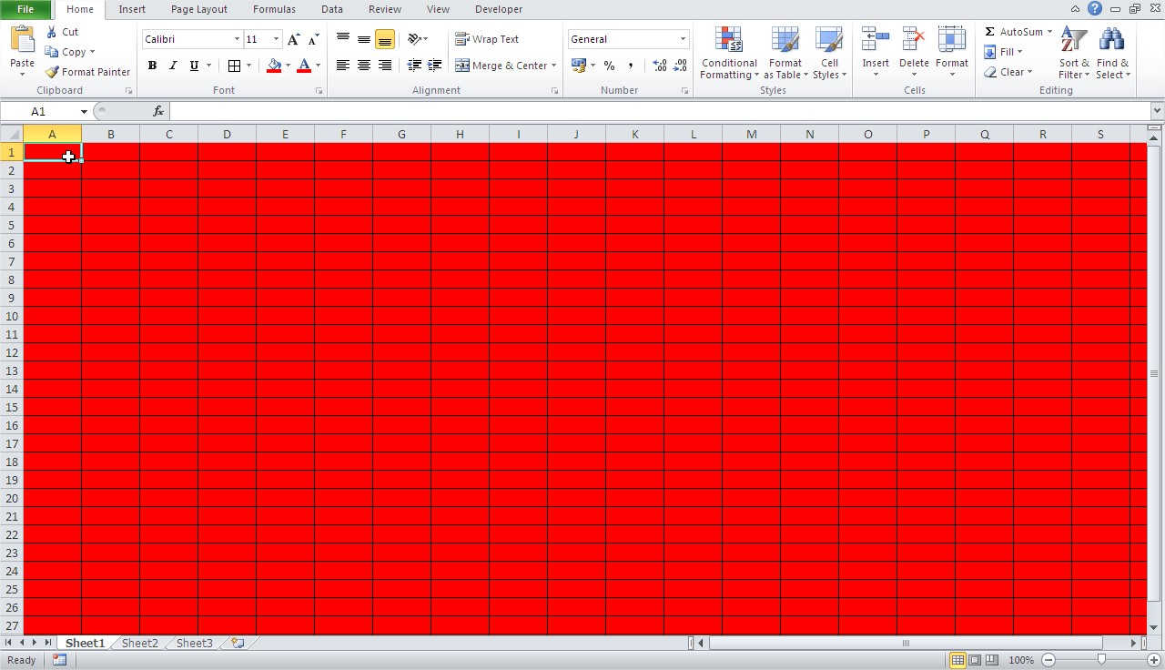Excel red workbook all borders