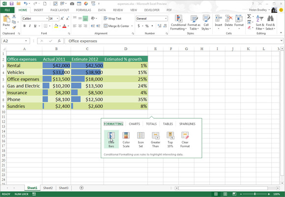 Data Analysis Excel 2013