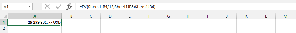 Using FV on another Spreadsheet