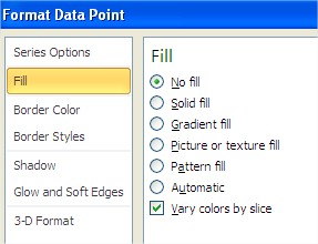 Format Data Point fill