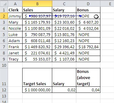 Formula auditing Trace Dependents
