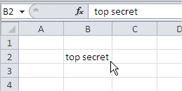 Cell Top Secret Excel