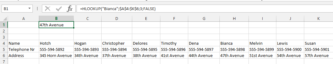 Finding Address to Employee