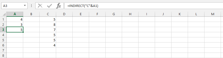 Indirect Function with Text