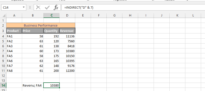 Indirectly Finding a Number in a Column
