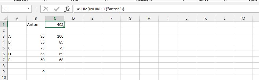 excel sum multiple worksheets indirect excel indirect