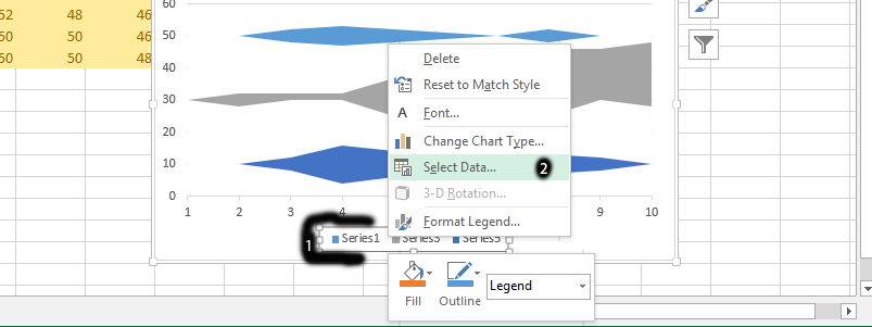 click select data