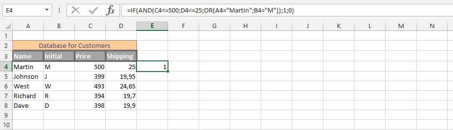Using IF AND  OR Function Simultaneously