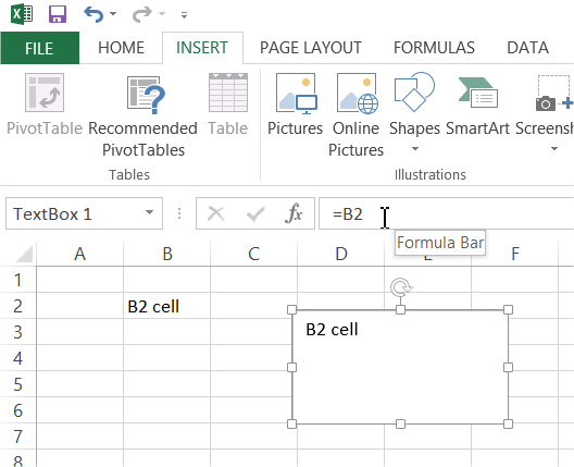 Best Excel Tutorial - Linking Text Box to a specific cell