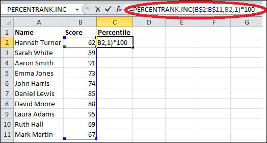 Best Excel Tutorial - How to Calculate Percentile?
