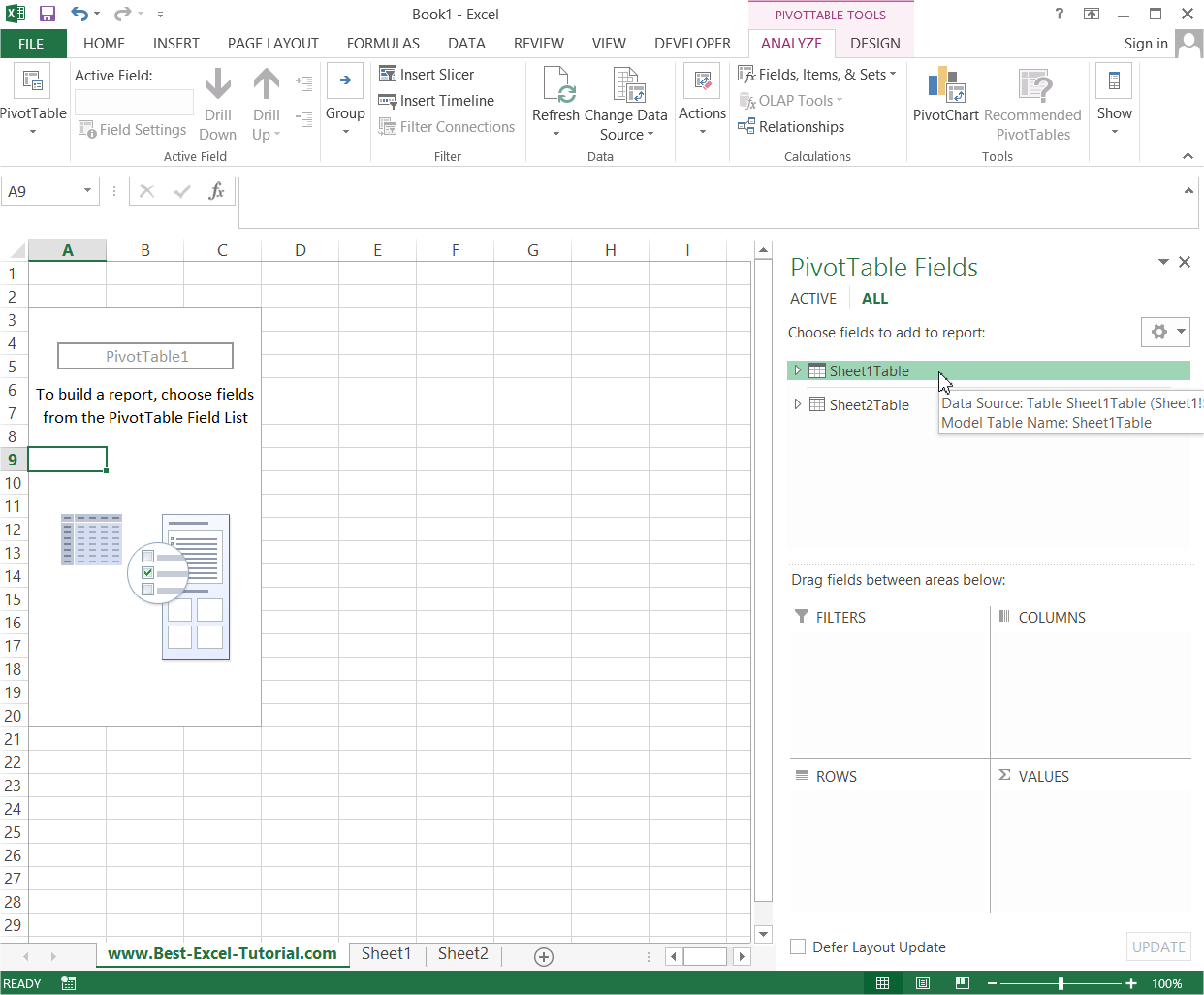 Multiple Sheets Pivot Table
