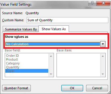 Show values as drop-down list