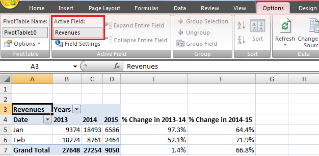 Best Excel Tutorial - How to create a year-over-year report