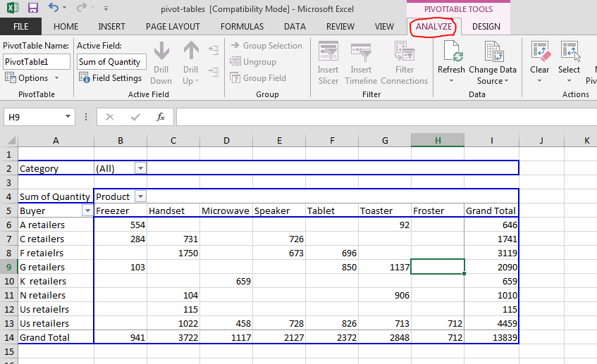 Best Excel Tutorial - Refreshing pivot table data