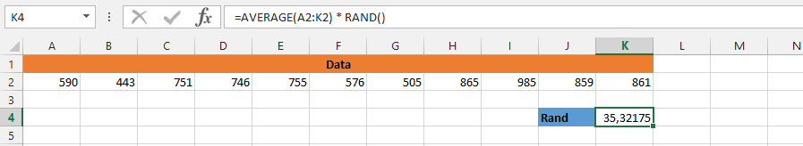 AVERAGE and RAND