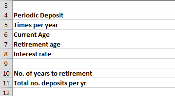 Best Excel Tutorial - Retirement calculator
