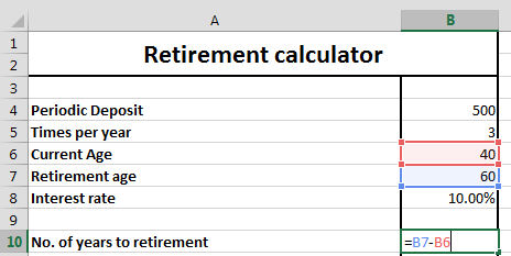 Retirement Calculator Formula & Finance Example: Savings Annuity ...