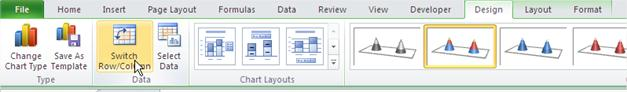 Ribbon Switch Row Column