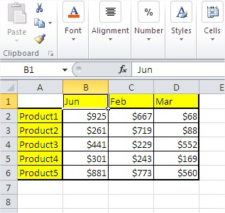 Sales Rep Excel