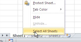 Select All Sheets