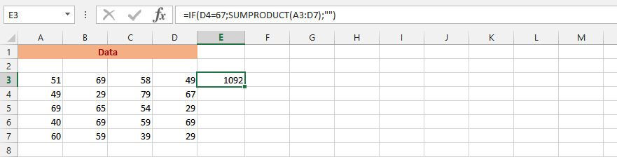 IF and SUMPRODUCT
