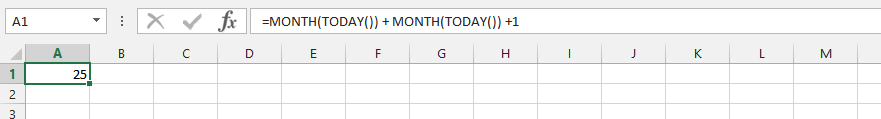 Double Today and Month Formula