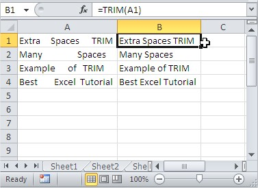 TRIM remove extra spaces