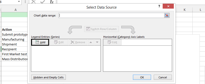 select data source add